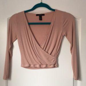 crisscross long sleeve top
